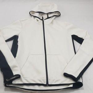 Nike All Fit Vixen Tech White Hooded Zip Sweater